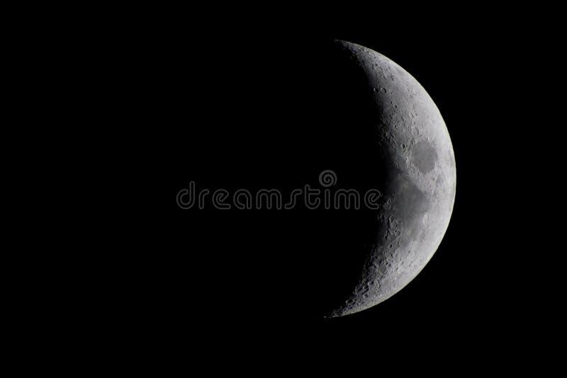 Encerar a Crescent Moon imágenes de archivo libres de regalías