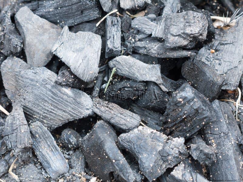 encerramento de carvão preto para incêndio na praia, sem iluminação imagens de stock