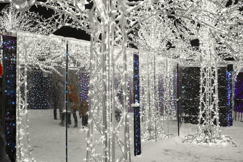 Enchant Christmas Light Maze and Market. Vancouver 2016 royalty free stock image
