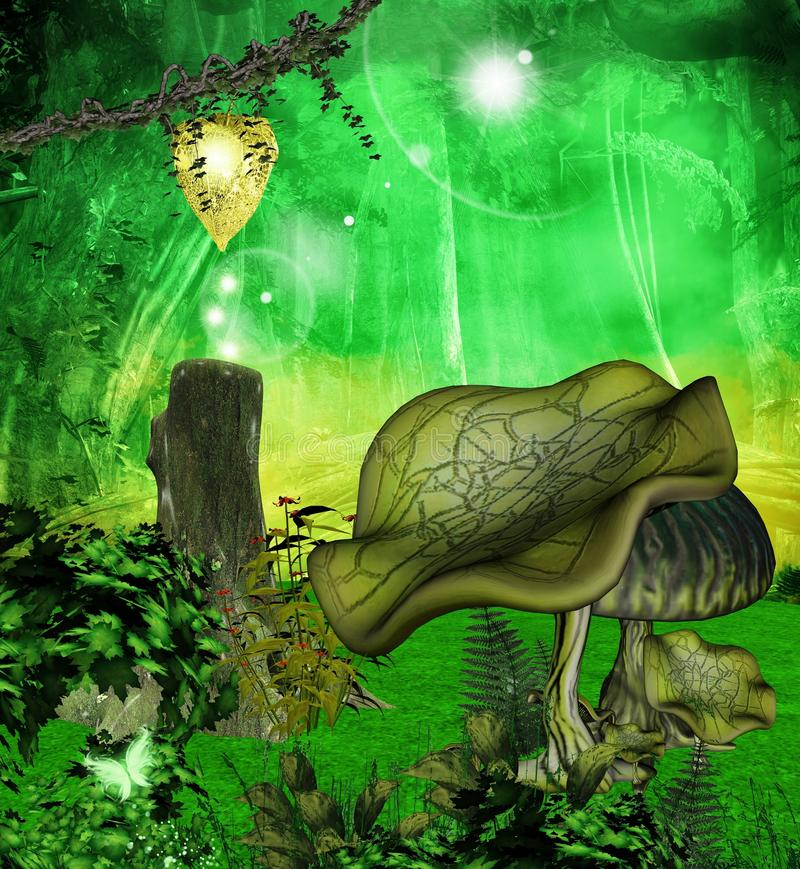 Download Through The Enchanted Forest Stock Illustration - Image: 20906087