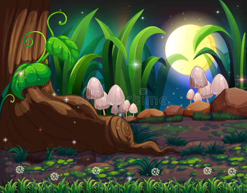 An enchanted forest vector illustration