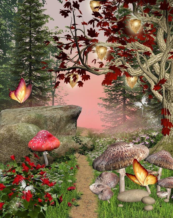 Enchanted pathway vector illustration