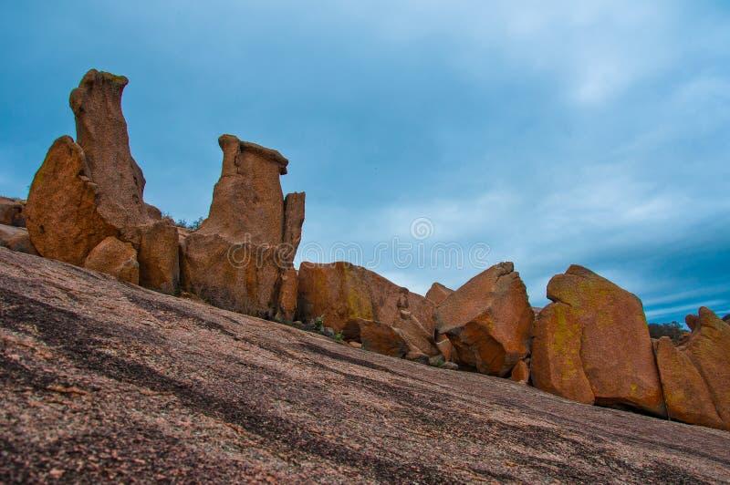 Enchanted Rock Erosion ROck DIsplay Pink Granite royalty free stock image