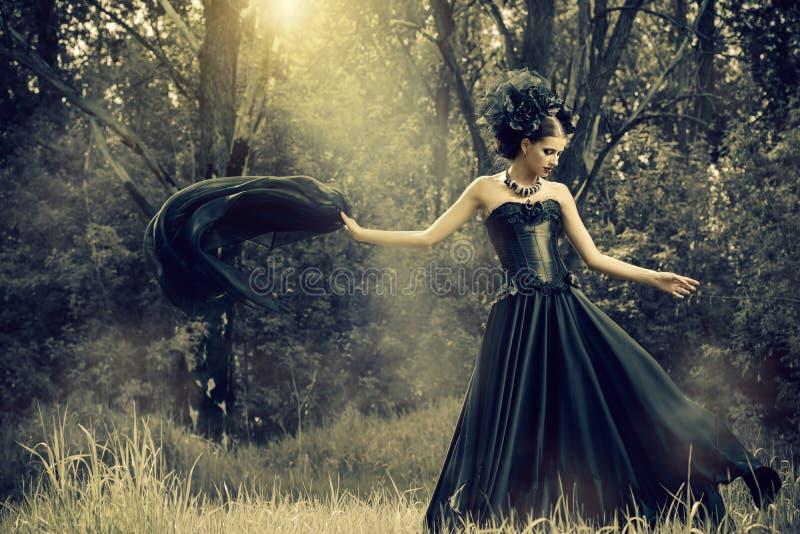 Enchanted woman royalty free stock image