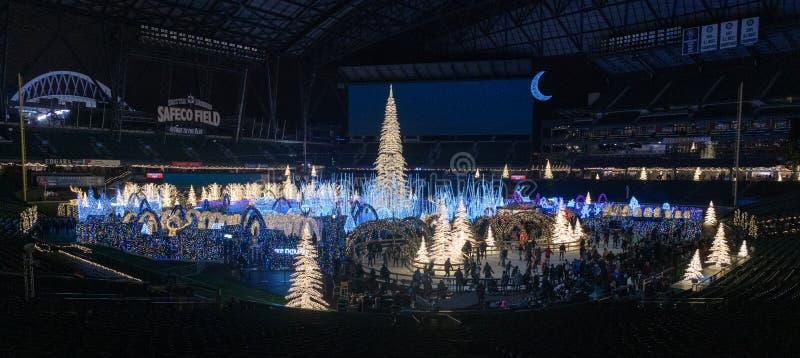 Enchantez l'événement de Noël images libres de droits