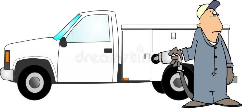 Enchendo Um Caminhão Com O Gás Fotografia de Stock Royalty Free