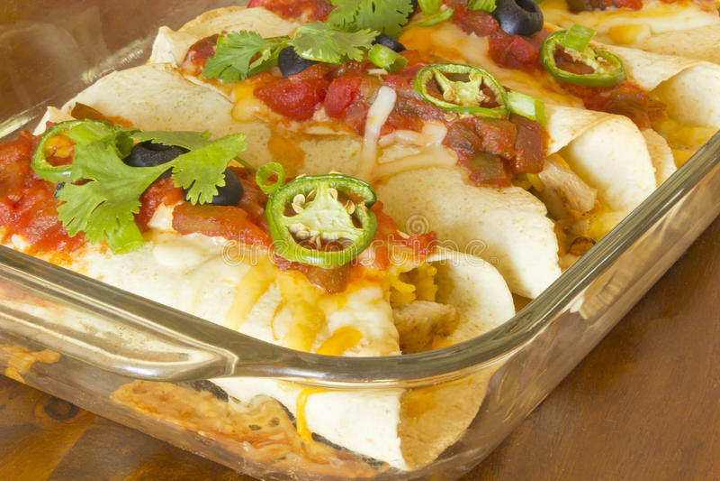 Enchilada-Kasserolle lizenzfreie stockfotografie