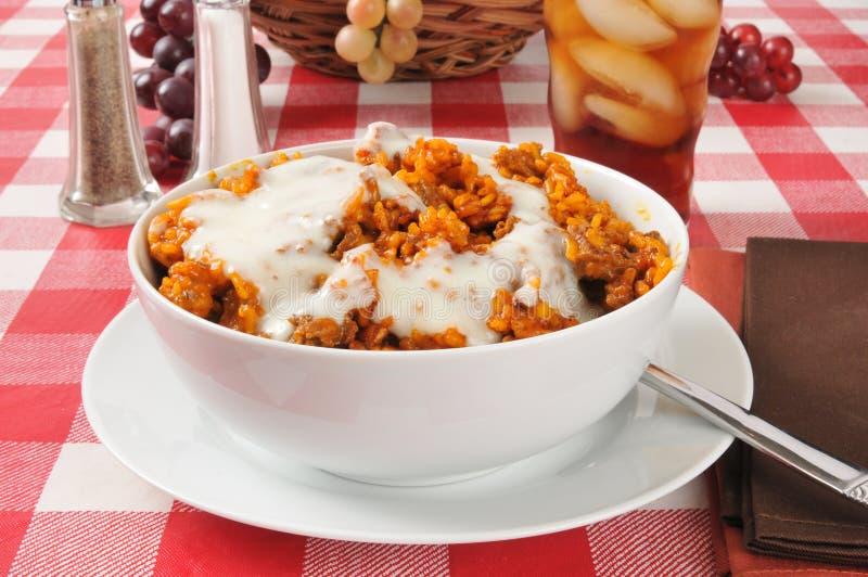 Enchilada ryż potrawka zdjęcia royalty free