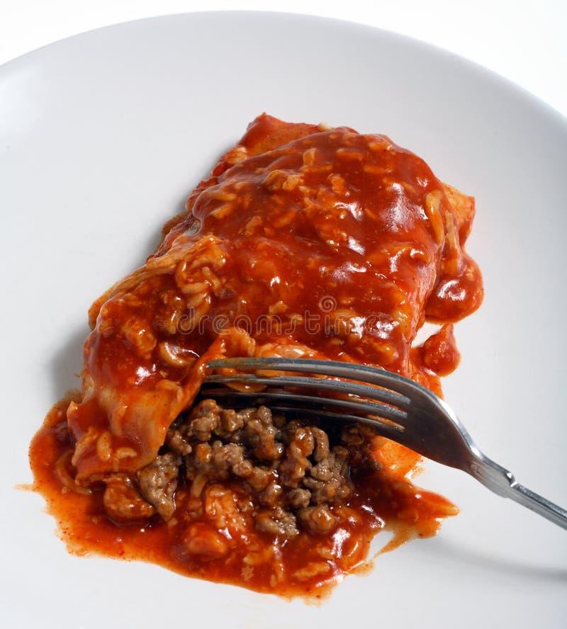 enchilada salsa ostre wołowiny obraz royalty free