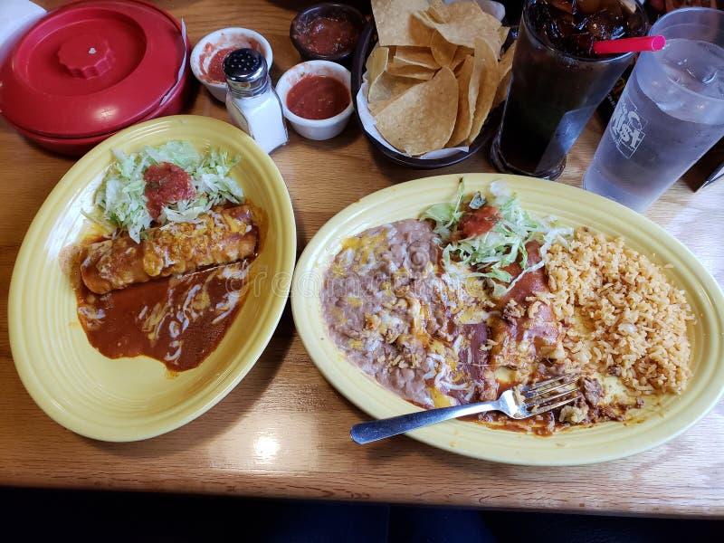 Enchiladas chaudes images libres de droits