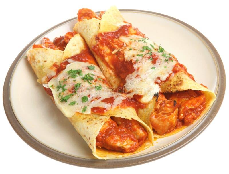 Enchiladas mexicanos da galinha foto de stock royalty free