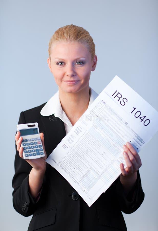 Enchimento em retornos de imposto fotos de stock