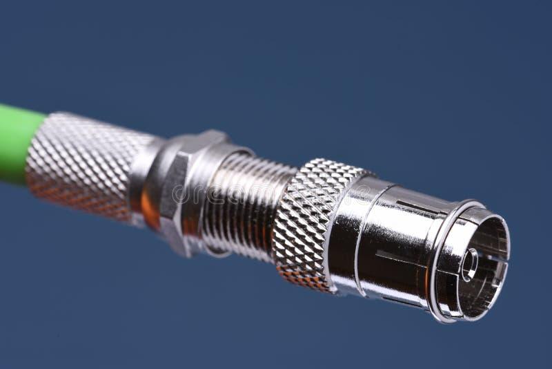Enchufe del cable coaxial imagen de archivo libre de regalías