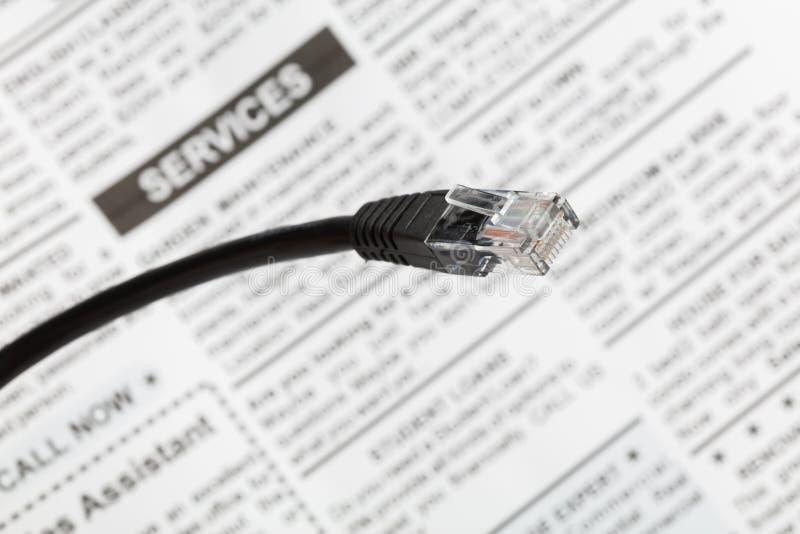 Enchufe del cable de la red imagen de archivo libre de regalías