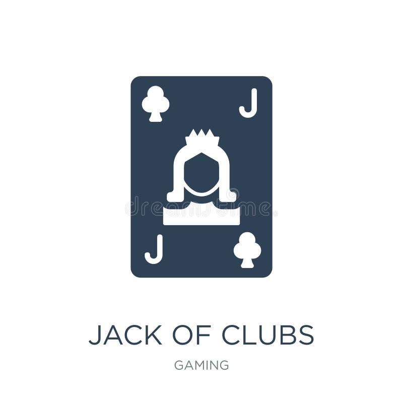 enchufe del icono de los clubs en estilo de moda del diseño enchufe del icono de los clubs aislado en el fondo blanco enchufe del libre illustration