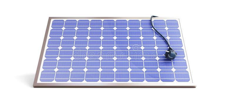 Enchufe del panel solar ilustración del vector