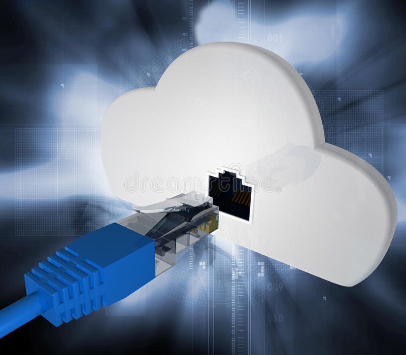 Enchufe el establecimiento de una red de la nube libre illustration