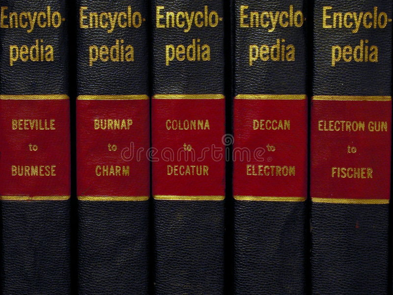 Enciclopédia fotografia de stock