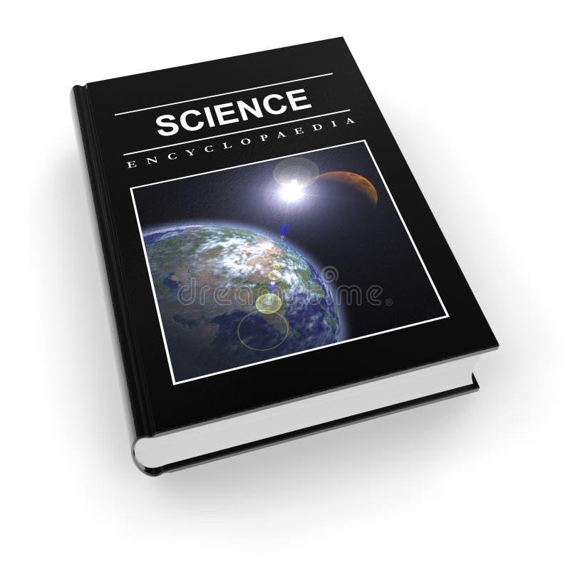 Enciclopédia científica ilustração stock