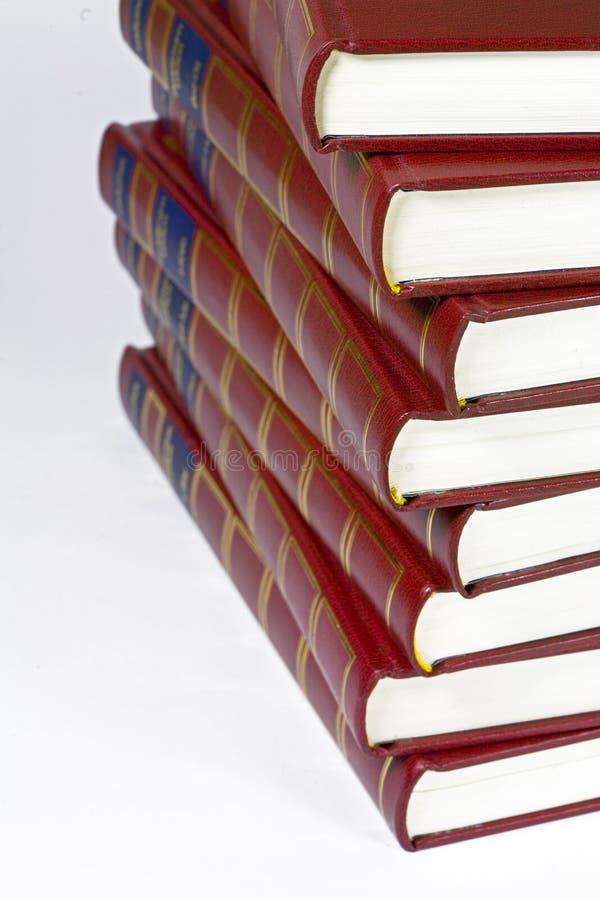 Enciclopédias imagens de stock