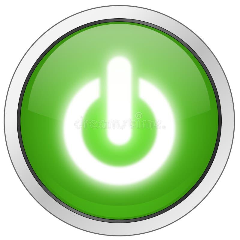 Encienda el botón de la potencia ilustración del vector
