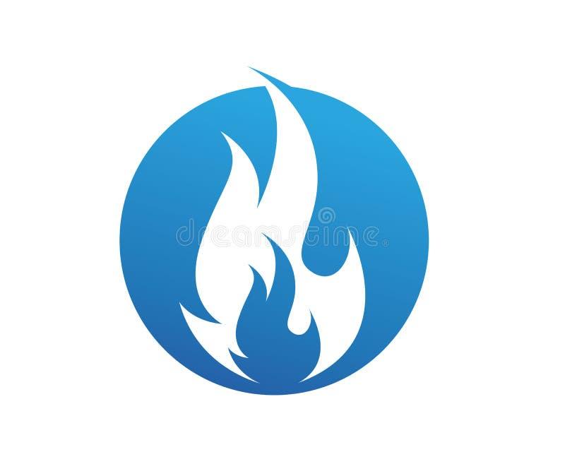 Encienda el logotipo de la naturaleza de la llama y la plantilla de los iconos de los símbolos libre illustration
