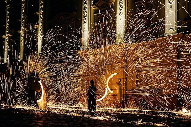 Demostración 20 Del Fuego Fotos de archivo libres de regalías
