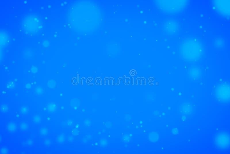 Enciende el bokeh en fondo azul stock de ilustración