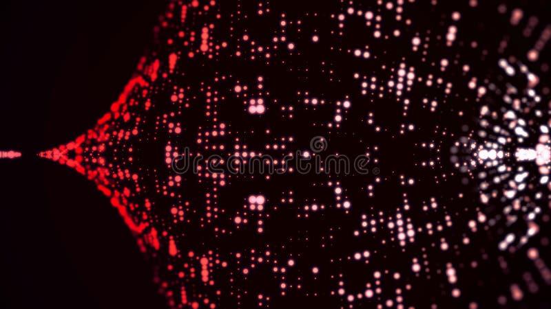 Enciende el fondo colorido del bokeh Extracto colorido elegante Fondo del disco con los círculos y las estrellas Luces del disco ilustración del vector