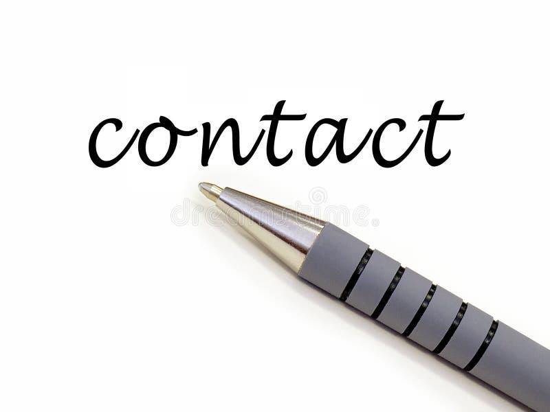 Encierre el contacto de la escritura
