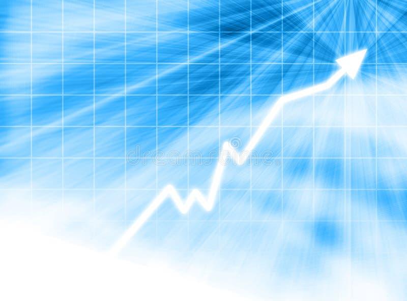 Encima de flecha en red azul stock de ilustración