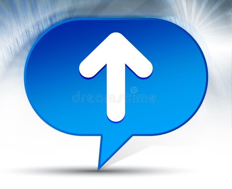 Encima de fondo azul de la burbuja del icono de la flecha ilustración del vector