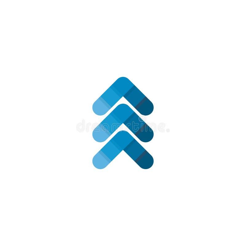 Encima de logotipo del s?mbolo de la flecha ilustración del vector