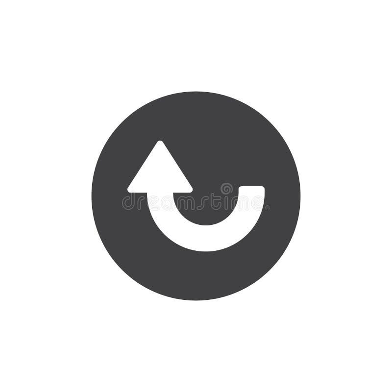 Encima de vector curvado del icono de la flecha ilustración del vector