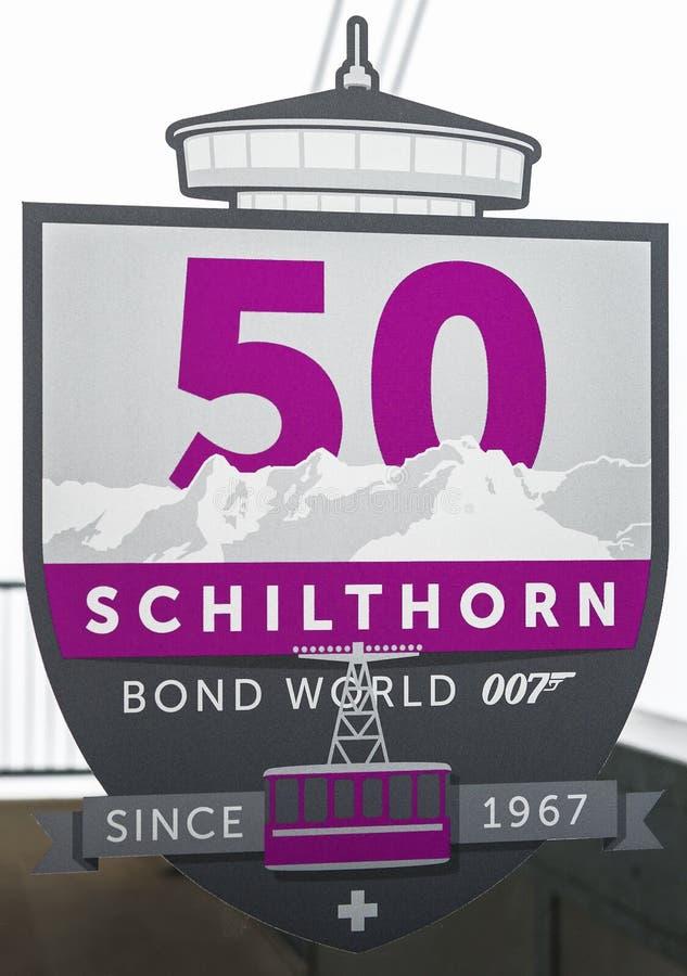 Encima del pico de Schilthorn imagenes de archivo