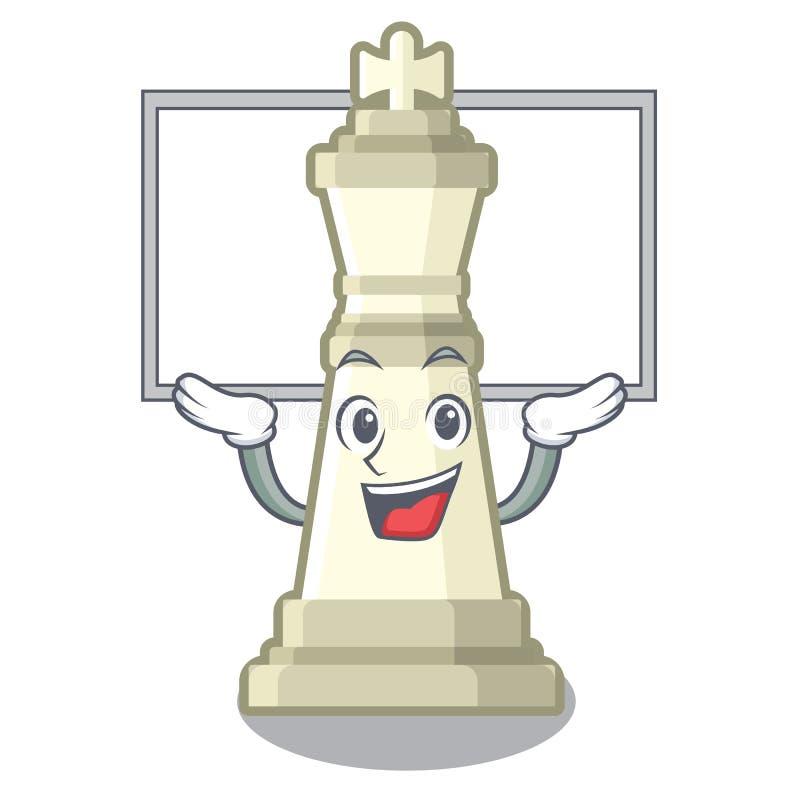 Encima del rey del ajedrez del tablero aislado en el carácter libre illustration