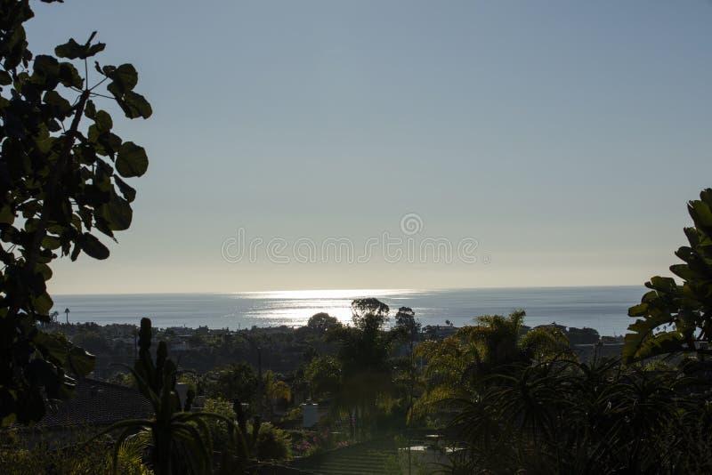 Encinitas Kalifornien solnedgång arkivfoto