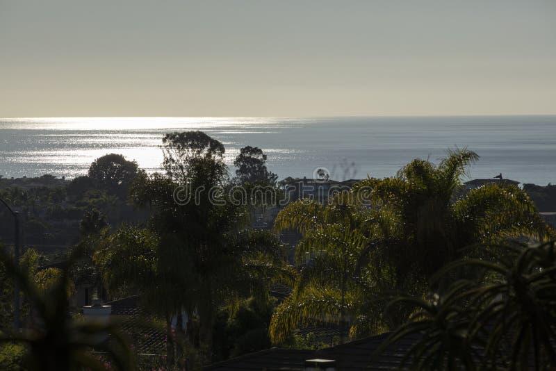 Encinitas Kalifornien solnedgång arkivbilder