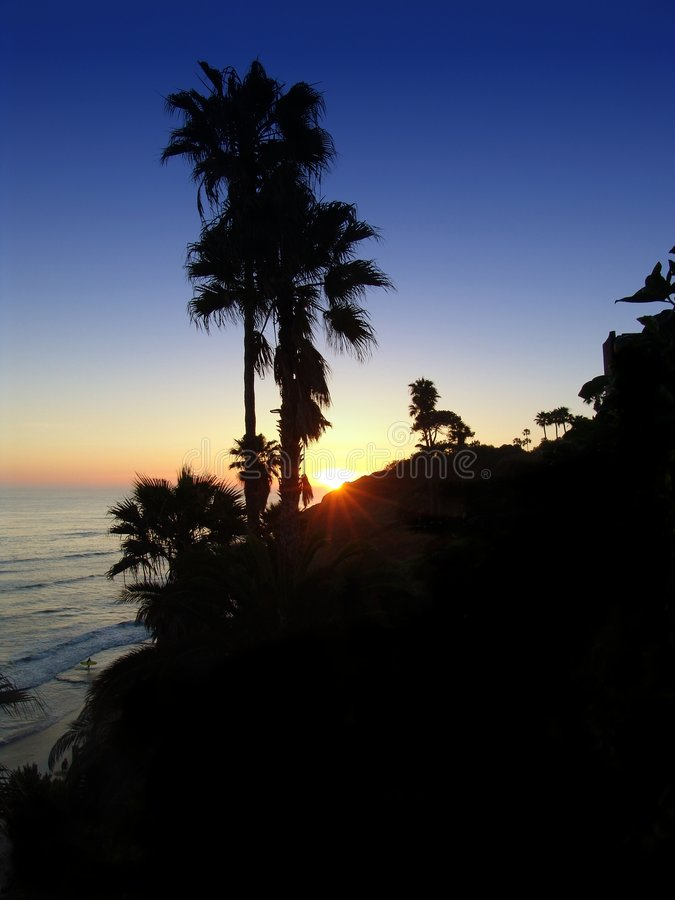 Encinitas Sunset royalty free stock photos