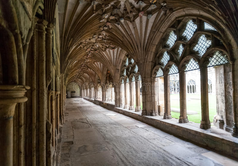 Enclaustre la catedral de Cantorbery, Kent, Inglaterra fotografía de archivo libre de regalías