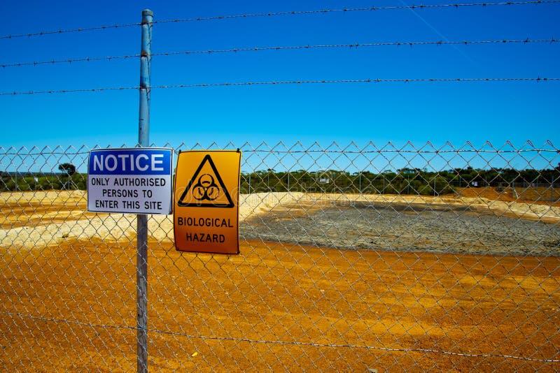 Biological Hazard. Enclosure for a Biological Hazard royalty free stock photography