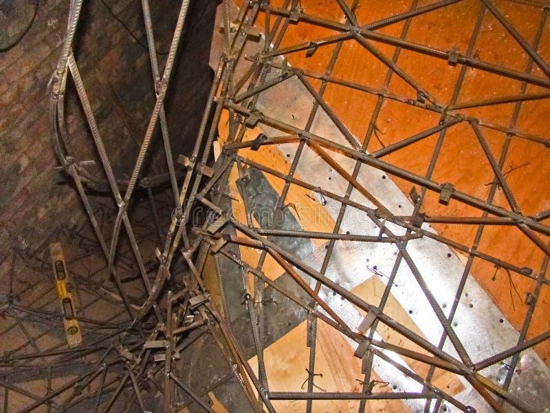 Encofrado para las escaleras imagen de archivo imagen de for Encofrado de escaleras de concreto