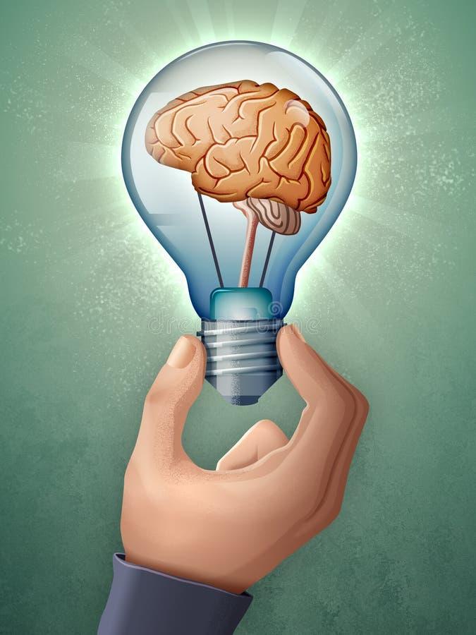 Encontrando ideias novas ilustração stock