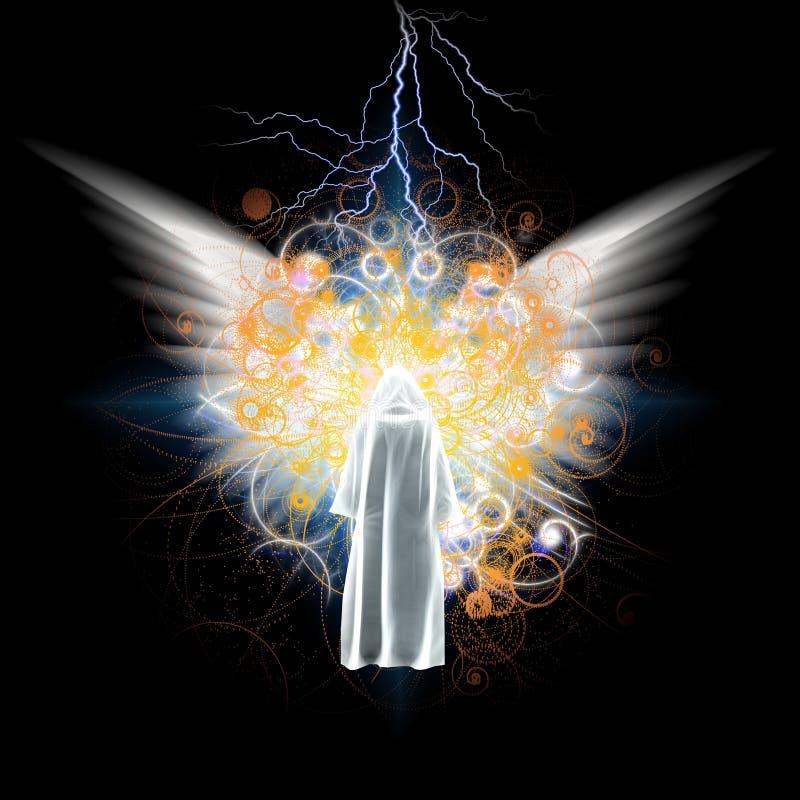 Encontrando o anjo ilustração stock