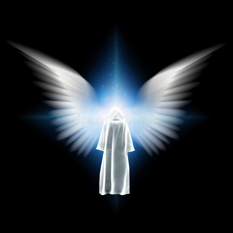 Encontrando o anjo ilustração royalty free