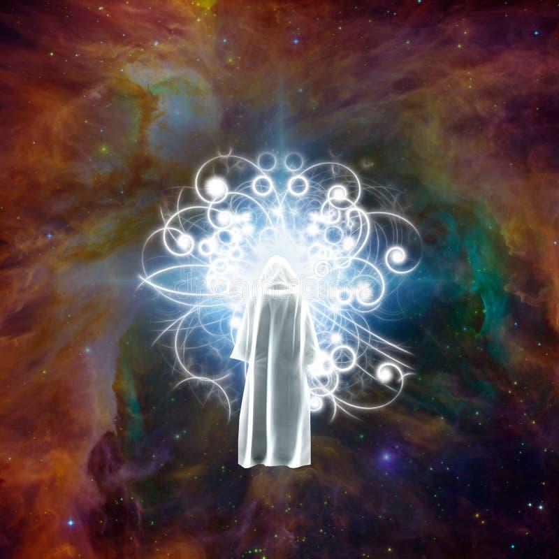 Encontrando o deus ilustração do vetor