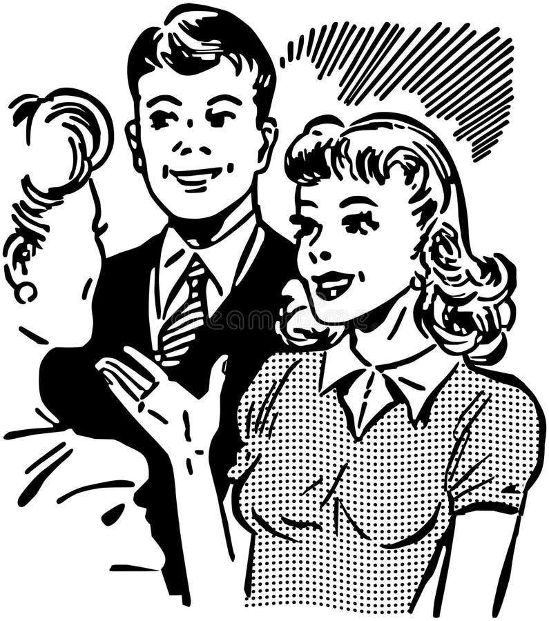 Encontrando o noivo ilustração stock