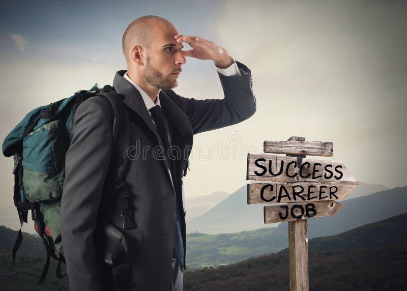 Encontre a estrada ao sucesso comercial imagens de stock