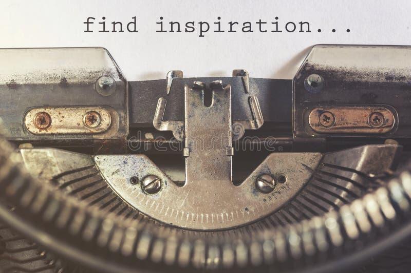 Encontre a mensagem inspirador da inspiração imagem de stock royalty free