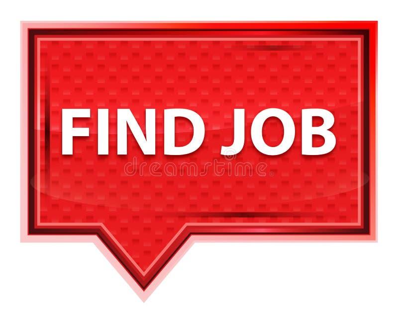 Encontre o botão cor-de-rosa cor-de-rosa enevoado da bandeira do trabalho ilustração stock